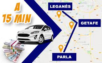 Tasamos tu coche y te damos hasta 2.000€ más que el resto en Leganés, Getafe y Parla