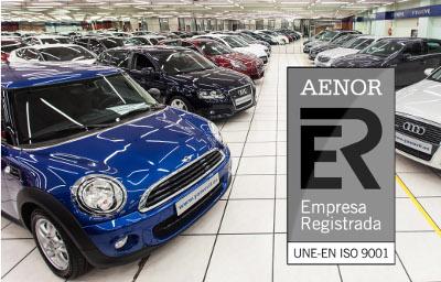 certificado ISO 9001 para todos nuestros automóviles